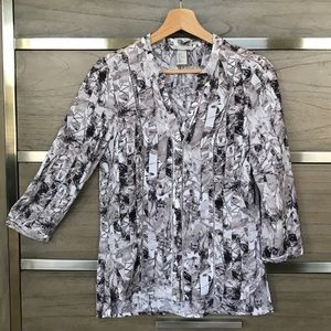 H&M Abstract Floral Blouse